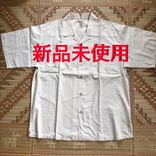 (未使用)かりゆしウェア・LL・2パターンの襟・ベージュ(シャツ)