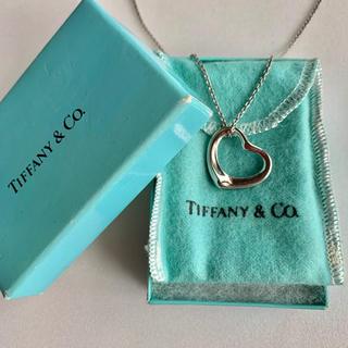 Tiffany & Co. - 美品 TIFFANY&CO ティファニー オープンハート ネックレス Mサイズ