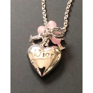 クリスチャンディオール(Christian Dior)のクリスチャンディオール  ハート ロゴ  ジャラジャラ ネックレス(ネックレス)