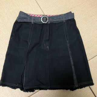 ザスコッチハウス(THE SCOTCH HOUSE)のお値下げ 美品 デニムスカート 黒 150(スカート)