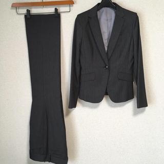 アールユー(RU)のアールユー パンツスーツ 1 W70 グレー OL ビジネス RU DMW(スーツ)