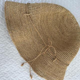 MUJI (無印良品) - 無印良品 ラフィア帽子 麦わら帽子