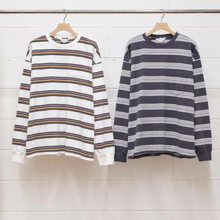 アンユーズド(UNUSED)の即完売 20ss  unused BORDER LS T-SHIRT(Tシャツ/カットソー(半袖/袖なし))