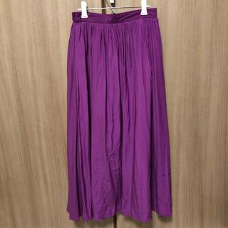 GU - パープルロングスカート