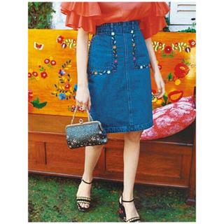 Lily Brown - リリーブラウン メキシコ刺繍 デニムスカート