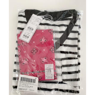 イング(INGNI)のINGNI スカーフ付き サイドスリットVネックtシャツ ボーダー(Tシャツ/カットソー(半袖/袖なし))
