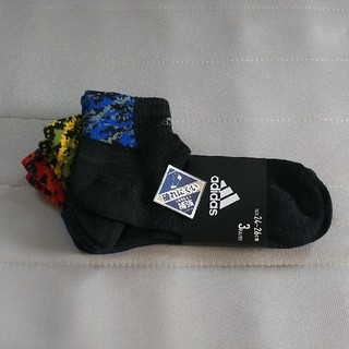 アディダス(adidas)のアディダス 靴下 3足組 24~26(ソックス)