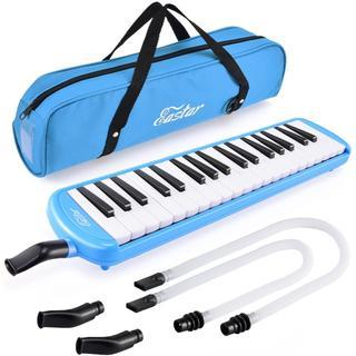 Eastar 鍵盤ハーモニカ ホース+唄口セット 37鍵 (ブルー)(キーボード/シンセサイザー)