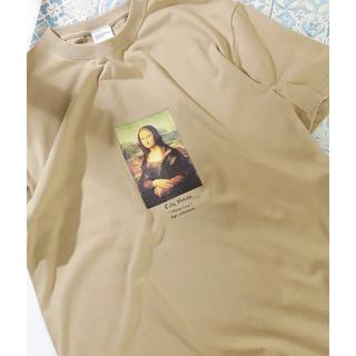 フリークスストア(FREAK'S STORE)のMonna Lisa Tシャツ(ベージュ系)(Tシャツ/カットソー(半袖/袖なし))