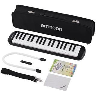 鍵盤ハーモニカ 37鍵 ピアノスタイル マウスピースクリーニングクロスキャリー(キーボード/シンセサイザー)