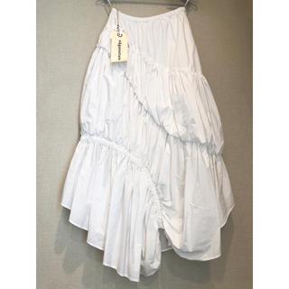 エンフォルド(ENFOLD)のナゴンスタンス nagonstans ホワイト ギャザー スカート(ロングスカート)