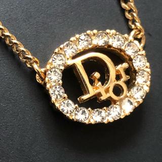 クリスチャンディオール(Christian Dior)のクリスチャンディオール  ヴィンテージ  ビジュー  ロゴ  ネックレス(ネックレス)