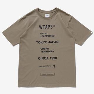 ダブルタップス(W)taps)のWTAPS 20ss CIRCA SS TEE BEIGE XL ベージュ(Tシャツ/カットソー(半袖/袖なし))