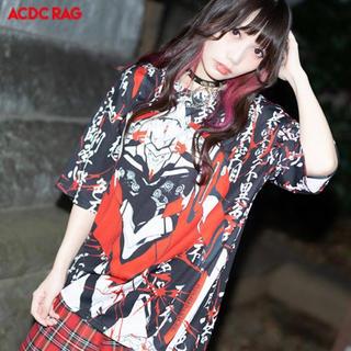 エーシーディーシーラグ(ACDC RAG)の【ACDC RAG】般若心経とエヴァMIXTシャツ(Tシャツ(半袖/袖なし))