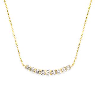 JEWELRY TSUTSUMI - ジュエリーツツミ K18YG ダイヤモンドネックレス
