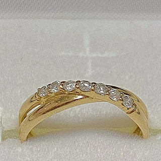 ジュエリーツツミ(JEWELRY TSUTSUMI)のジュエリーツツミ K10YG ダイヤモンドリング(リング(指輪))