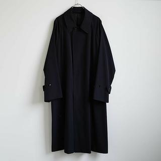 COMOLI - 20SS 新品 COMOLI ウールギャバ バルカラー コート 2 ネイビー