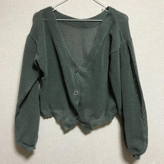 シマムラ(しまむら)の透かし編み カーデ(カーディガン)