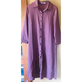 グレイル(GRL)のGRL オープンカラーシャツ シャツワンピース(ひざ丈ワンピース)