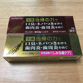 サンスター(SUNSTAR)のサンスター薬用塩ハミガキ(歯磨き粉)