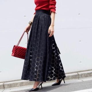Drawer - 未使用✨完売✨オブリ OBLI リボンドットスカート ブラック M