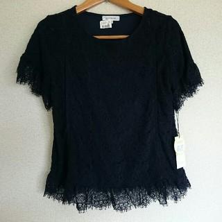 オリーブデオリーブ(OLIVEdesOLIVE)の新品 授乳服 半袖 L (ネイビー)(マタニティトップス)