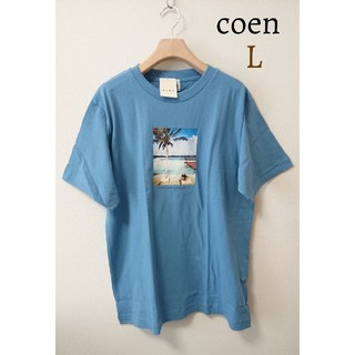coen - 今季 新品 メンズ コーエン coen サーフ プリント Tシャツ 半袖