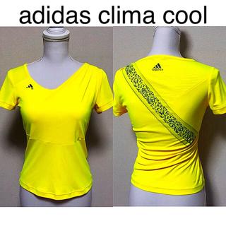 アディダス(adidas)のadidas ClimaCool Tシャツ 黄 ヨガ トレーニング ジム ウェア(ヨガ)