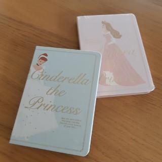 ディズニー(Disney)のシンデレラ&オーロラ姫ノートブック(ノート/メモ帳/ふせん)