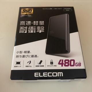 エレコム(ELECOM)のELECOM ESD-ED0480GBK 外付け ポータブルSSD(PC周辺機器)