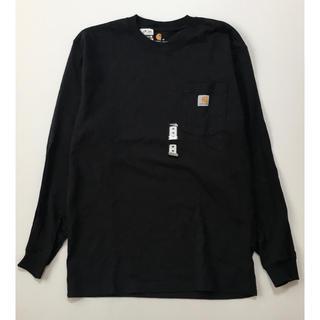 カーハート(carhartt)の新品 海外企画 charhartt カーハート ポケット ロンT ブラック M (Tシャツ/カットソー(七分/長袖))