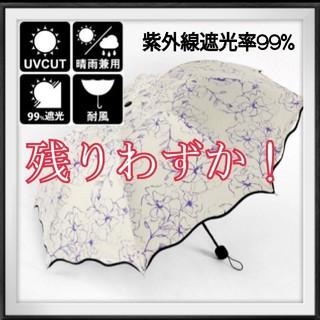 ●強い紫外線・UV対策に/晴雨兼用/折り畳み日傘/遮光/コンパクト/8本骨(傘)
