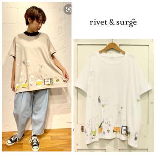 リベットアンドサージ(rivet & surge)の新品♡リベット&サージ♡COOKプリントBIGプルオーバー(Tシャツ(半袖/袖なし))