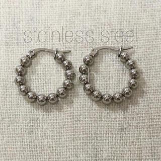 Ron Herman - j309.stainless lumpy hoop pierce(silver)