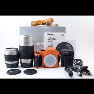 ペンタックス(PENTAX)の激レア!!ペンタックス Pentax K-30 Wレンズセット オレンジ(デジタル一眼)