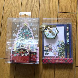 新品 ダッフィーフレンズ クリスマス メモ ふせん ボールペン(ノート/メモ帳/ふせん)