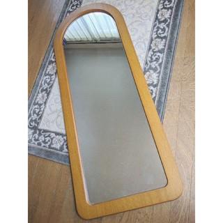 vintage▼木製 ミラー 姿見 全身鏡(壁掛けミラー)