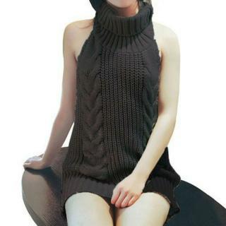 童貞を殺すセーター【胸閉め/横乳ちらみせ】ブラック(コスプレ)
