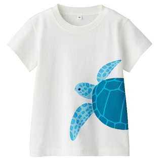 ムジルシリョウヒン(MUJI (無印良品))の送料込☆無印良品☆インド綿天竺編みプリントTシャツ アオウミガメ(Tシャツ)