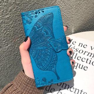 iPhoneXS/X 手帳型カバー オシャレ❣️蝶々 新品