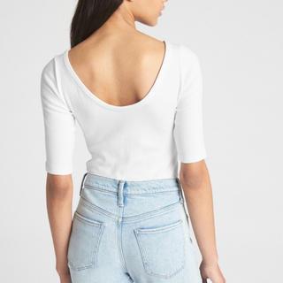 ギャップ(GAP)のGAP モダン バレエバック Tシャツ S ホワイト(Tシャツ(半袖/袖なし))