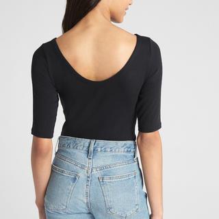 ギャップ(GAP)のGAP モダン バレエバック Tシャツ ブラック S(Tシャツ(半袖/袖なし))