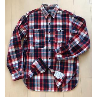 エンジニアードガーメンツ(Engineered Garments)の美品 エンジニアード ガーメンツ ワークシャツ 赤系 マドラスチェック M(シャツ)