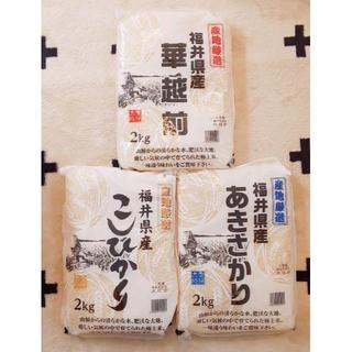 福井県産米 3品種詰め合わせ(米/穀物)