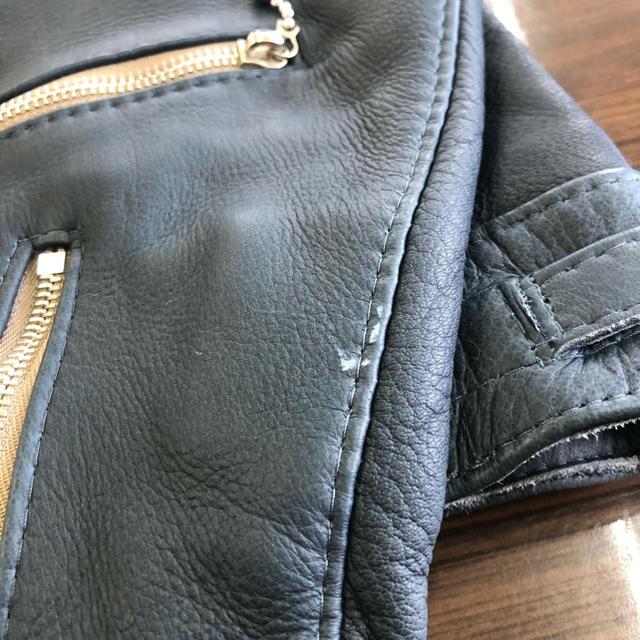 Lewis Leathers(ルイスレザー)のルイスレザー リアルマッコイズ ディアスキン サイクロン ネイビー サイズ42 メンズのジャケット/アウター(ライダースジャケット)の商品写真