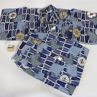 一つ身 二部式 羽織着物セット 男児 ベビー用 NO20589(和服/着物)