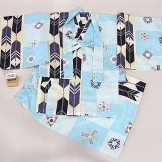 一つ身 二部式 羽織着物セット 男児 ベビー用 NO20590(和服/着物)