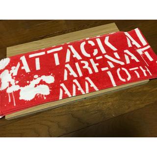 トリプルエー(AAA)のAAA 10thメンバーカラータオル  赤(その他)