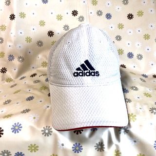 アディダス(adidas)のアディダス adidas メッシュキャップ 白 (帽子)