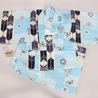 一つ身 二部式 羽織着物セット 男児 ベビー用 NO20592(和服/着物)